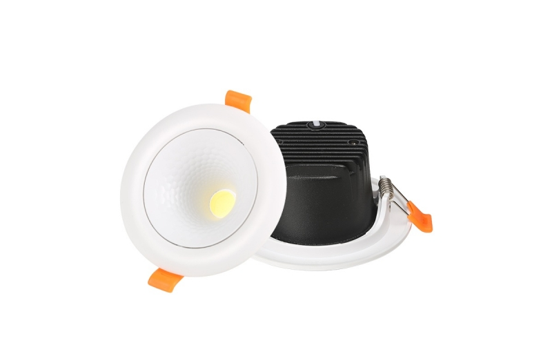 Modern indoor lighting round recessed COB 5w 7w 12w 18w 3D led spotlight